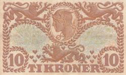 Imaginea #2 a 10 Coroane 1943 - Serie U (semnături Svendsen / Hellerung)