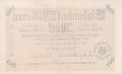 Imaginea #2 a 100 Millionen (100 000 000) Mark 1923 (26. IX.) - 2