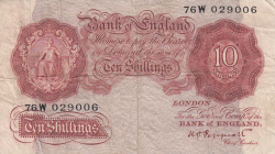 Image #1 of 10 Shillings ND (1948-1949)