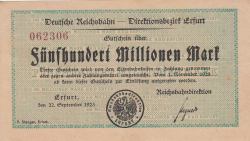 Image #1 of 500 Millionen (500 000 000) Mark 1923 (22. IX.)