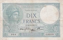 Image #1 of 10 Francs 1940 (26. XII.)