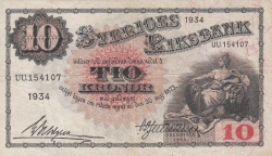 Image #1 of 10 Kronor 1934 - 2