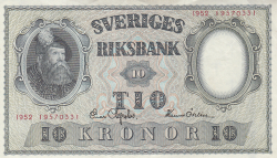 Image #1 of 10 Kronor 1952 - 2