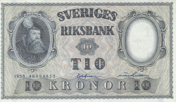 Image #1 of 10 Kronor 1958 - 4