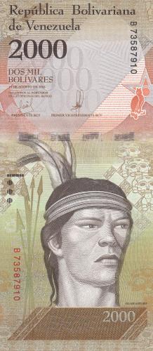 Image #1 of 2000 Bolivares 2016 (18. VIII.) - 2