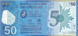Image #1 of 50 Pesos Uruguayos 2017