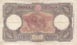 Image #2 of 100 Lire 1943 (23. VIII.)