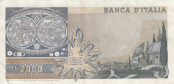 Image #2 of 2000 Lire 1976 (22. X.) - Signatures Baffi / Stevani