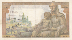 Image #1 of 1000 Francs 1942 (5. XI.)