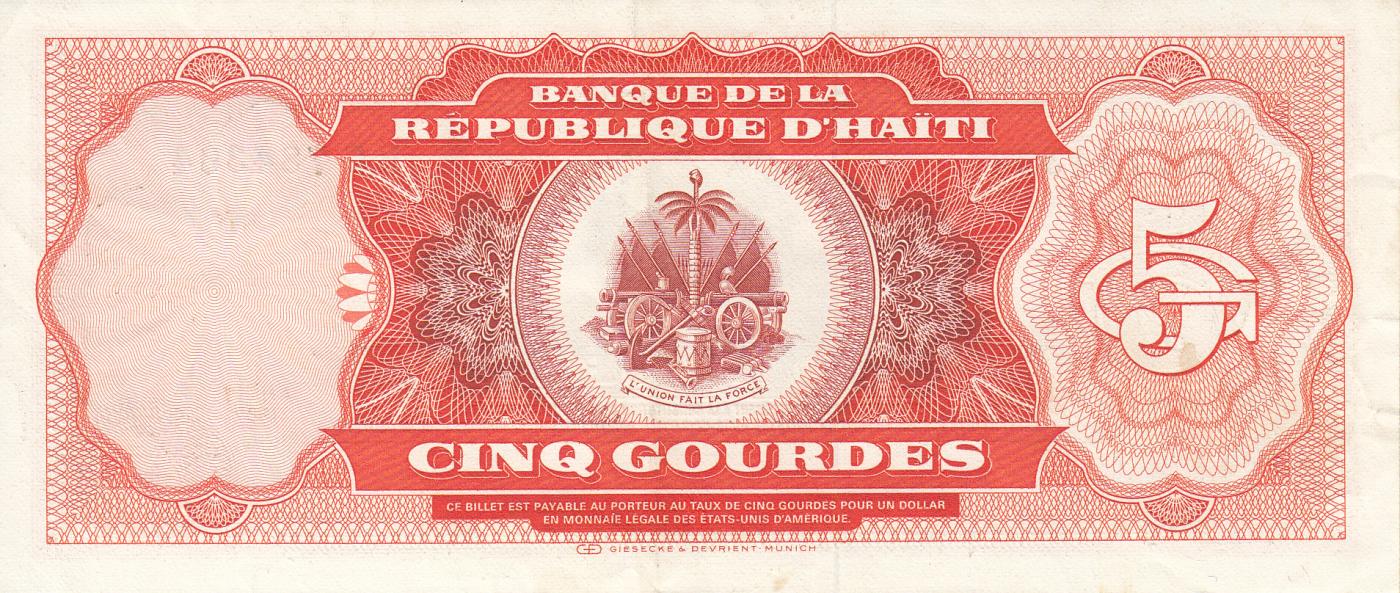 P-245 1987 Haiti 1 Gourde UNC