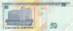 Image #2 of 50 Lempiras 2008 (17. IV.)