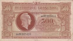 Imaginea #1 a 500 Francs ND (1944)