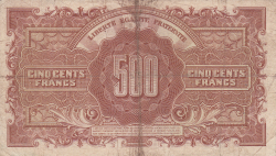 Imaginea #2 a 500 Francs ND (1944)