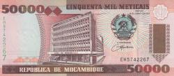 Image #1 of 50000 Meticais 1993 (16. VI.)
