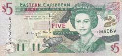 Image #1 of 5 Dolari ND (2000) -  V (St. Vincent)