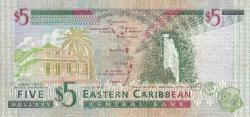 Image #2 of 5 Dolari ND (2000) -  V (St. Vincent)