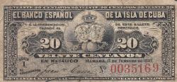 Imaginea #1 a 20 Centavos 1897 (15. II.)