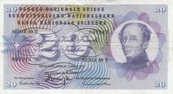 Image #1 of 20 Franken 1973 (7. III.) - signatures: Dr. Rudolf Aebersold / Dr. Breno Galli / Dr. Fritz Leutwiler