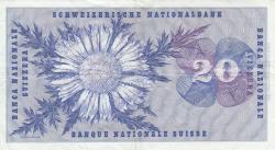 Image #2 of 20 Franken 1973 (7. III.) - signatures: Dr. Rudolf Aebersold / Dr. Breno Galli / Dr. Fritz Leutwiler