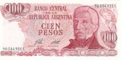 Image #1 of 100 Pesos ND (1976-1978) - signatures Enrique José Porta / Adolfo César Diz