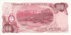 Image #2 of 100 Pesos ND (1976-1978) - signatures Enrique José Porta / Adolfo César Diz