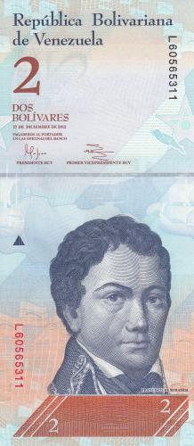 Imaginea #1 a 2 Bolivares 2012 (27. XII.)