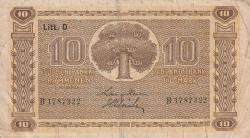 Imaginea #1 a 10Markkaa / Mark 1939 - semnături Heurlin / Alsiala