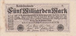 5 Milliarde (5 000 000 000) Mark 1923 (20.X.) - 2