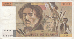 Image #1 of 100 Francs 1980