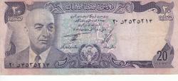 20 Afghanis 1973 (SH 1352 - ١٣٥٢)