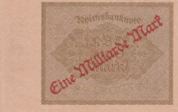 Image #2 of 1 Milliarde Mark on 1000 Mark ND (IX. 1923 on old date 15.XII.1922) - 2