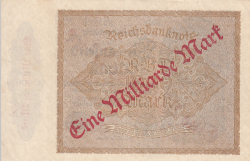 Image #2 of 1 Milliarde Mark on 1000 Mark ND (IX. 1923 on old date 15.XII.1922)