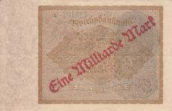 Image #2 of 1 Milliarde Mark on1000 Mark ND (IX. 1923  on old date 15.XII.1922)