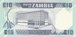 Imaginea #2 a 10 Kwacha ND (1980-1988)