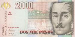Image #1 of 2000 Pesos 2014 (31. VII.)