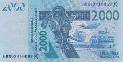 Image #1 of 2000 Francs 2003/(20)09