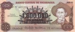 Image #1 of 1.000.000 Córdobas on 1000 Córdobas ND (1990)
