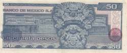Image #2 of 50 Pesos 1981 (27. I.) - Serie JH