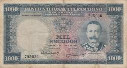 1000 Escudos 1953 (31. VII.) - 1