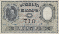 Image #1 of 10 Kronor 1953 - 2