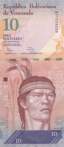 Imaginea #1 a 10 Bolivares 2014 (19. VIII.)