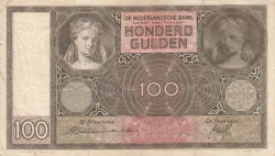 Image #1 of 100 Gulden 1939 (20. VI.)
