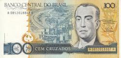 Imaginea #1 a 100 Cruzados ND (1986) - semnături Dilson Domingos Funaro/ Fernão Carlos Botelho Bracher