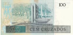 Imaginea #2 a 100 Cruzados ND (1986) - semnături Dilson Domingos Funaro/ Fernão Carlos Botelho Bracher
