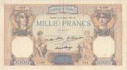 Image #1 of 1000 Francs 1931 (19. III.)