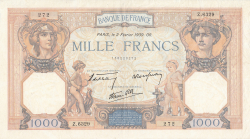 Image #1 of 1000 Francs 1939 (2. II.)
