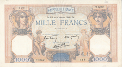 Image #1 of 1000 Francs 1940 (18. I.)