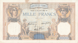 Image #1 of 1000 Francs 1940 (18. VII.)