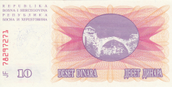 Imaginea #2 a 10000 Dinari 1993 (24. XII.)