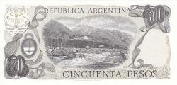 Image #2 of 50 Pesos ND (1976-1978) - signatures Alberto J. Camps/ Adolfo César Diz
